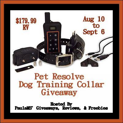 Win a Pet Resolve Dog Training Collar