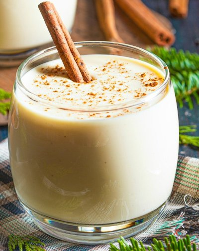 When it comes to eggnog you have several choices — most follow a basic formula: eggs are mixed with sugar, milk or cream, and liquor. And there's even egg-free and dairy-free options. No matter which one you choose, take one sip of one of the homemade eggnogs here and you'll never go back to the store-bought version! Be sure to whip up an extra batch to make an eggnog pie and some eggnog whipped topping, too! #ThirstyThursday #Recipe #Holiday #Homemade #Eggnog #HolidayRecipe