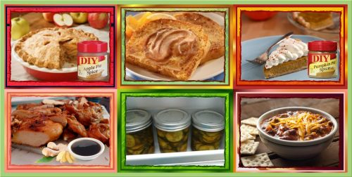 Six Great Recipe Ideas for Ginger Teriyaki Chicken,Easy Blue Ribbon Chili, Bread, Homemade Butter Pickles,Cinnamon Butter, DIYApple and Pumpkin Pie Spices. #Recipe #DIY #Homemade #Food #Cooking #Foodie