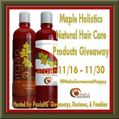 Maple Holistics Natural Hair Care Shampoo and Conditioner Giveaway