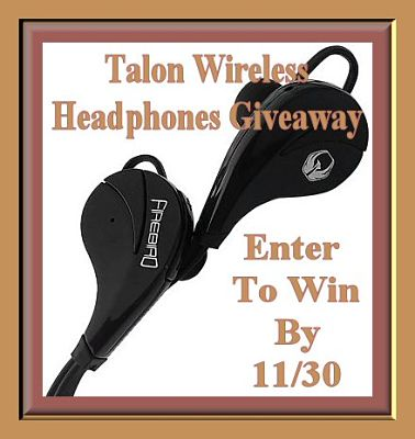 Talon Wireless Headphones Giveaway