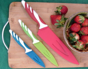 Enter to #WIN Sheathed Colored Kitchen Knife Set #Giveaway by 4/10 #coloredknife