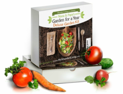 Garden for a Year Giveaway - Win a Abundant Living Deluxe Heirloom Gardening Kit