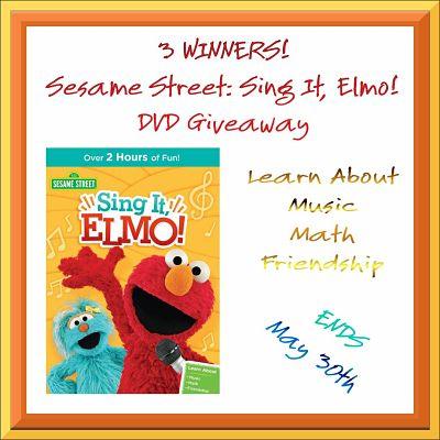 Sesame Street Sing It Elmo Giveaway