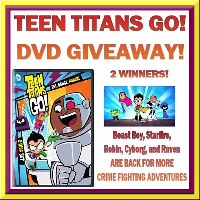 2 Winners! TEEN TITANS GO! DVD #Giveaway Ends 5/30 #WBHE #TeenTitans