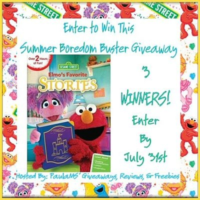 Elmo's Favorite Stories DVD Summer Boredom Buster Giveaway Ends 7/31