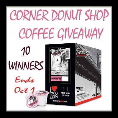 10 Winners – Corner Donut Shop Coffee Giveaway Ends 10/1