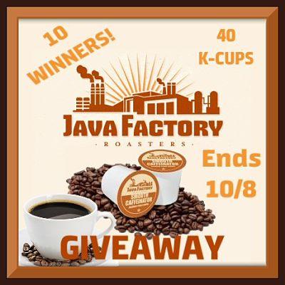 Java Factory Smooth Caffeinator Coffee Giveaway