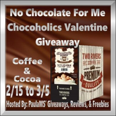 No Chocolate For Me Chocoholics Valentine Giveaway
