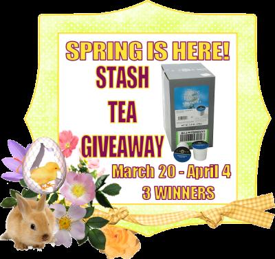 Spring Is Here! Stash Tea Giveaway - 3 WINNERS