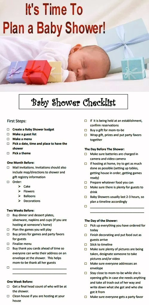 It's Time To Plan A Baby Shower Checklist
