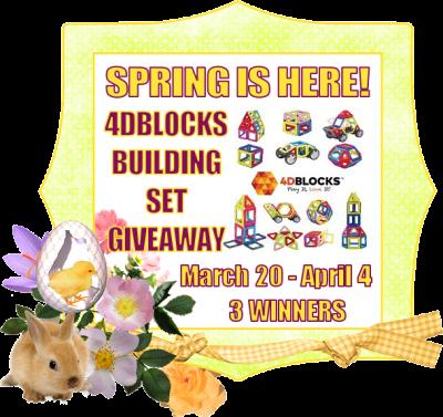 Spring Is Here! 4DBLOCKS Giveaway - 3 WINNERS