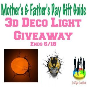 3d Deco Light Gift Guide Giveaway Ends 6/18