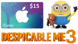 Despicable Me3 iTunes and Interactive Toy Giveaway