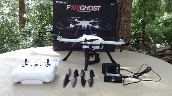 Force1 F100 Ghost GoPro Drone Contents