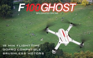 Force1 F100 Ghost GoPro Drone Quadcopter With Brushless Motors & Long Flight Times