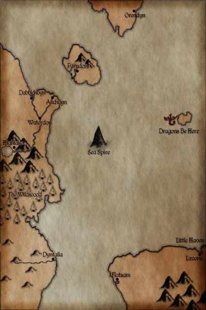 Through the Wildwood (The Legend of Vanx Malic Book 1) Map