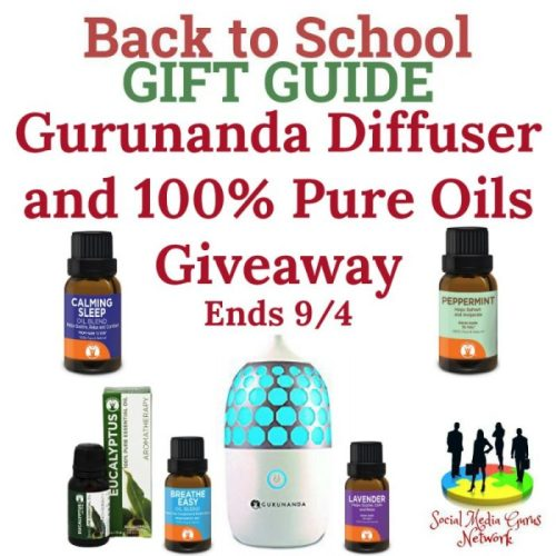 Back To School Gift Gurunanda Diffuser and 100% Pure Oils Giveaway