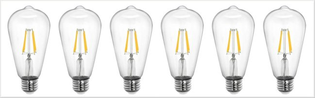 Tenergy Lighting Review - Edison Style Bulbs
