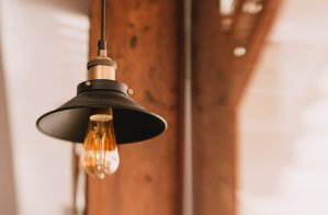 Tenergy Lighting Review - Edison Style Bulb In Fixture