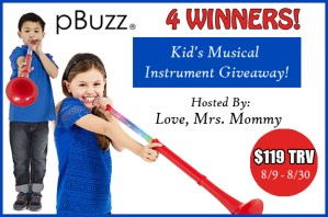 Kid's Musical Instrument Giveaway Ends 8/30 – 4 Winners