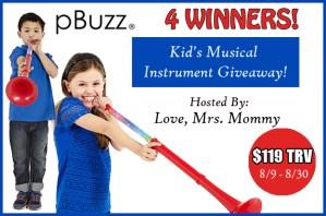 pBuzz Kids Musical Instrument Giveaway