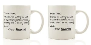 Unique Gift Idea: Dear Mom AND Dad, From Your Favorite Funny Coffee Mugs