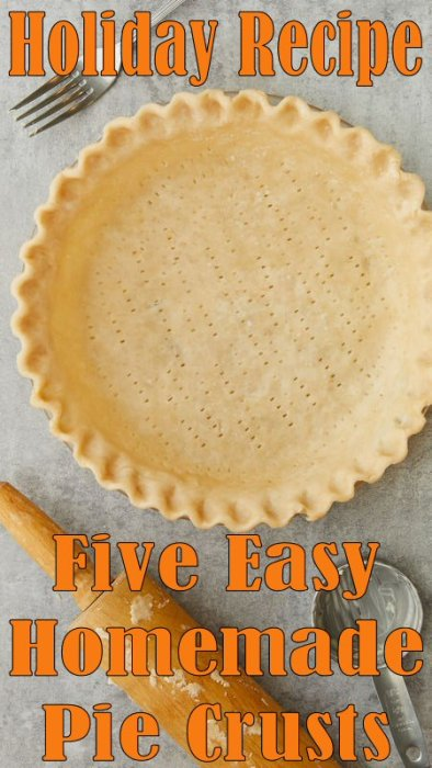 Homemade Pie Crust Recipes - If you are looking for no-fail pie crust recipes, these delicious pie crust recipes are sure to bake up tender, light, and flaky. Each one of them is easily made with just a few ingredients, which are usually found in most kitchens. Whether you are making a savory meal or a sweet dessert now you'll have the perfect crust to go with it. #Pie #Recipe #Dessert #Holiday #Baking #Food