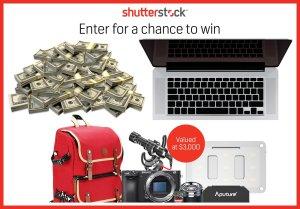 Shutterstock Fall Giveway Cash, Camera, Computer