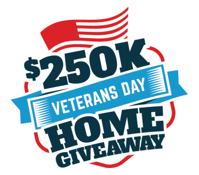 $250K Veterans Day Home Giveaway Sweepstakes Ends 10/29/17