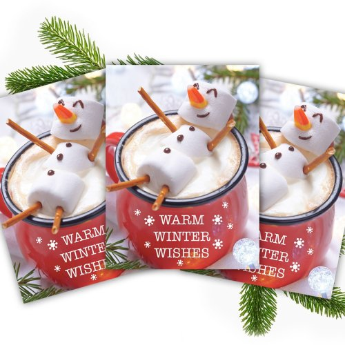 Cocoa Snowman Holiday Cards