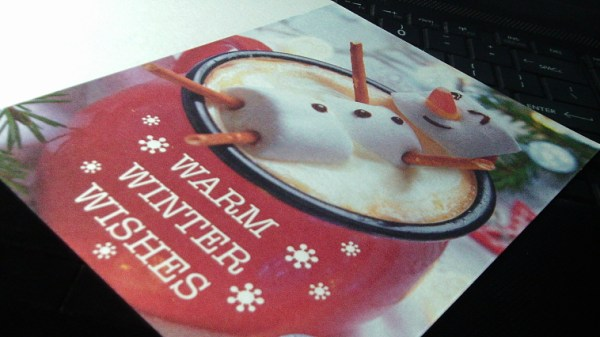 Cocoa Snowman Holiday Cards 1