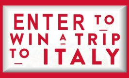 Win a trip to Italy in this jovial Culinary Getaway Sweepstakes Ends 11/15/17