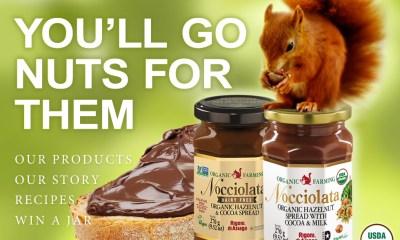 Nocciolata Organic Chocolate Hazelnut Spread Giveaway