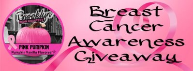 Pink Pumpkin Coffee Heart Ribbon Breast Cancer Awareness Giveaway