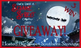 Once Upon a Sesame Street Christmas DVD Giveaway Ends 10/25/17