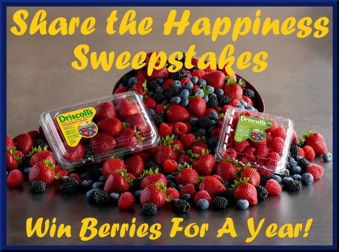 Share the Happiness Sweepstakes Win Driscoll's Berries For a Year