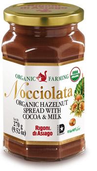 Nocciolata Organic Chocolate Hazelnut Spread Swirl Pumpkin Pie