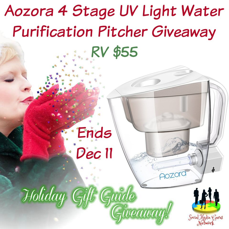 HOLIDAY GIFT GUIDE GIVEAWAY - Aozora 4 Stage UV Light Water Purification Pitcher Giveaway