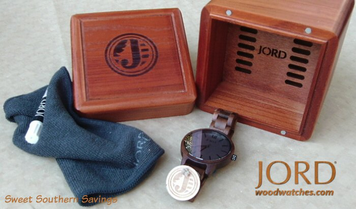 JORD Frankie Series Koa & Ash Wood Watch