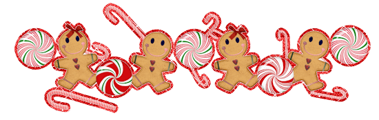 gingerbread man holiday divider