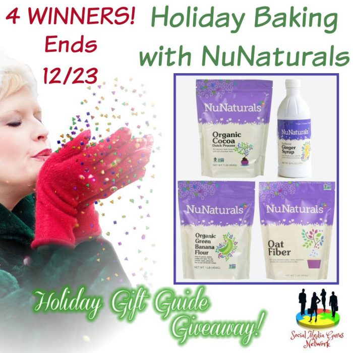 HOLIDAY GIFT GUIDE GIVEAWAY - 4 WIN Holiday Baking With NuNaturals