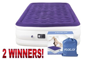 2 WIN Portable Airbed Mattress Giveaway Ends 2/14