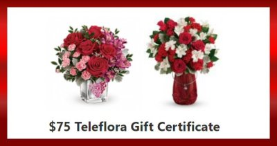 $75 Teleflora's Valentine's Day Gift Certificate Giveaway Ends 2/7