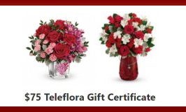 $75 Teleflora Gift Certificate Valentine's Day Giveaway Ends 2/7