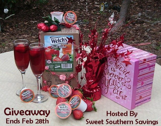 Welch's Apple Strawberry Fruit Cider Non-Alcoholic Valentine's Drink Giveaway