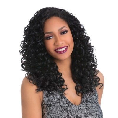 Add Style In Minutes With A Black Hairspray Half Wig