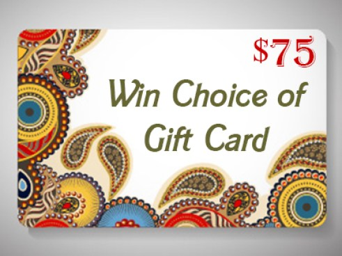Choice of $75 USD Gift Card or PayPal Cash Worldwide Giveaway Ends 6/ 5