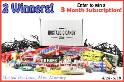 2 Win! Three Month Nostalgic Candy Club Subscription Giveaway