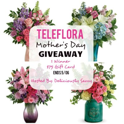 Teleflora Mother's Day Giveaway ~ 1 Winner ~ $75 Teleflora Gift Card (Ends 5/06) #LoveOutLoud @Teleflora
